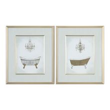 Uttermost 33677 - Uttermost Gilded Bath Prints S/2