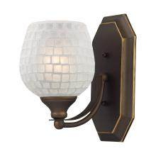 ELK Lighting 570-1B-WHT - Bath And Spa 1 Light Vanity In Aged Bronze And W