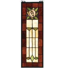 "Meyda Tiffany 67791 - 8""W X 24""H Pasadena Rose Stained Glass Window"