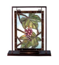 "Meyda Tiffany 68352 - 9.5""W X 10.5""H Nappa Vintage Lighted Mini Tabletop Window"