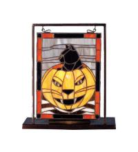 "Meyda Tiffany 69140 - 9.5""W X 10.5""H Halloween Lighted Mini Tabletop Window"